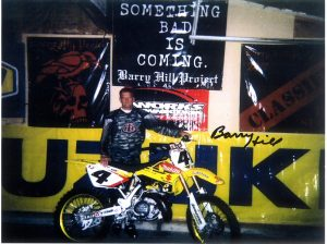 Barry Hill and Bike