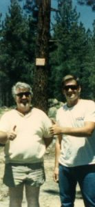 Chuck Trickle and Barry at Mammoth Lakes, CA
